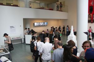 People wait in line to get their copy of Mr. Polan's book signed by the artist at MoMA. (Photo: Brady Dale for Observer)