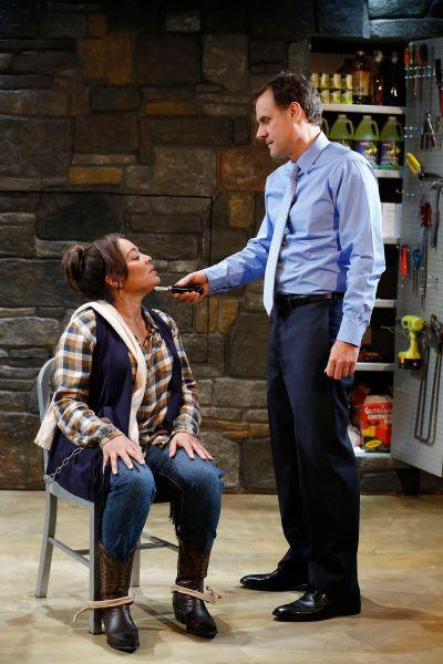 Jonathan Walker and Lauren Velez in Catch the Butcher. (Photo: Carol Rosegg)