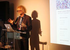 Steve Sacks, founder of Bitforms Gallery. (Photo: Brady Dale for Observer)