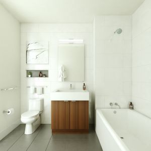 It's nice to have a new bathroom.