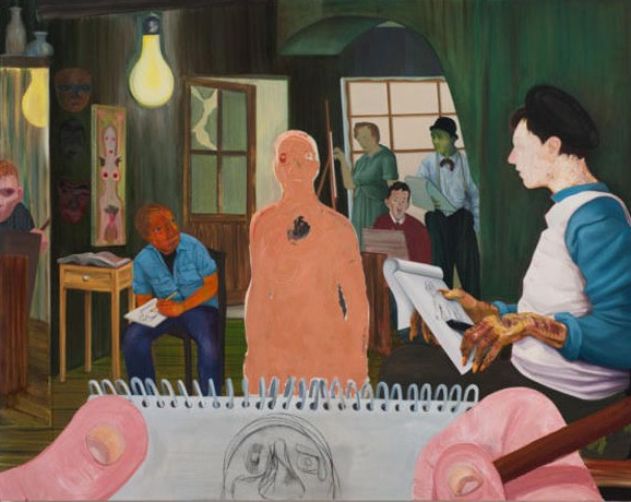 Nicole Eisenman, The Drawing Class, 2011. (Photo: Anton Kern Gallery)