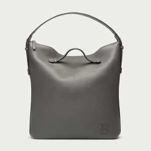 'Richardson' gray leather tote by Bally, $1,795. (Photo: Bally)