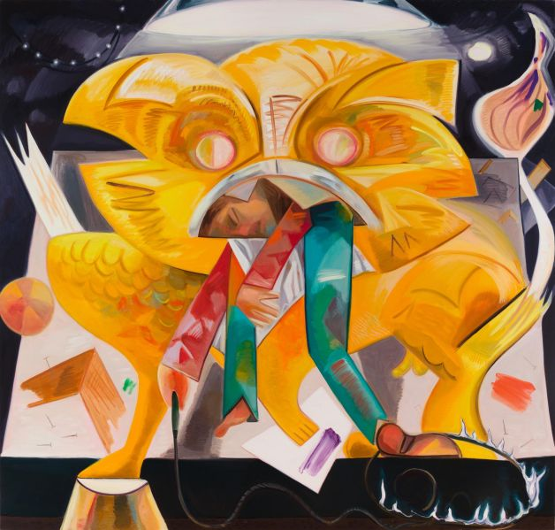 Dana Schutz, Lion Eating Its Tamer, 2015