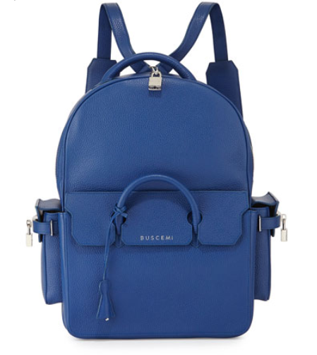 Buscemi PHD Large Leather Backpack, Blue, $2,750, www.neimanmarcus.com. (Photo: Neiman Marcus)