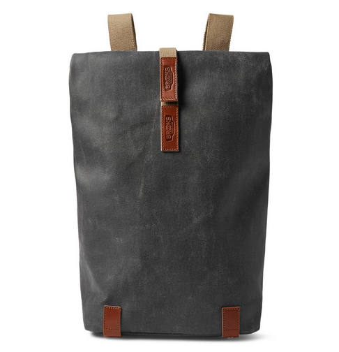 Brooks England Pckwick small leather-trimmed canvas backpack, $360, www.mrporter.com. (Photo: Mr Porter)