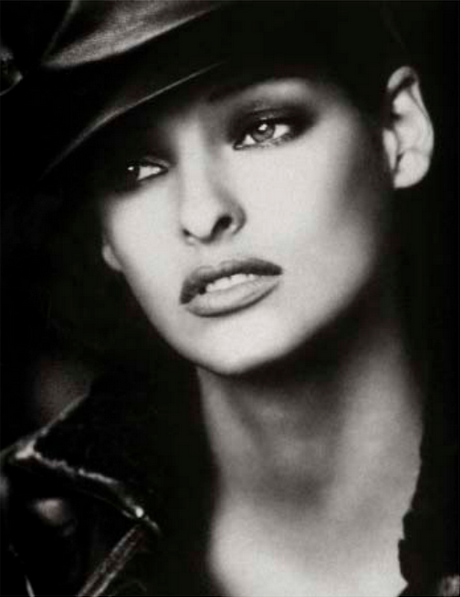 Linda Evangelista. Photographed for the September 1992 issue by Peter Lindbergh. Styled by Paul Cavaco and Tonne Goodman.