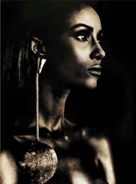Iman. Photographed for the June 1992 issue by Phillip Dixon. Styled by Robert Rufino.
