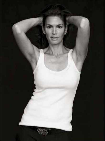 Cindy Crawford. Photographed for the September 2009 issue by Peter Lindbergh. Styled by Brana Wolf.