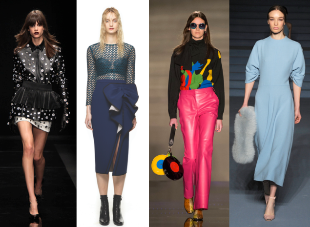 Looks from four emerging designers (Photos: Courtesy, Getty Images)