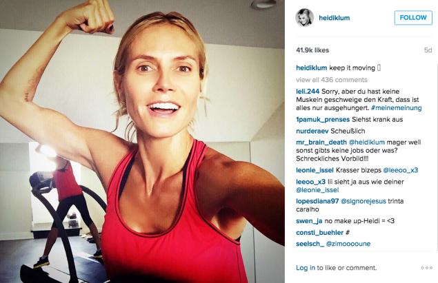 Heidi Klum hit the treadmill. (Photo: Instagram/Heidi Klum)