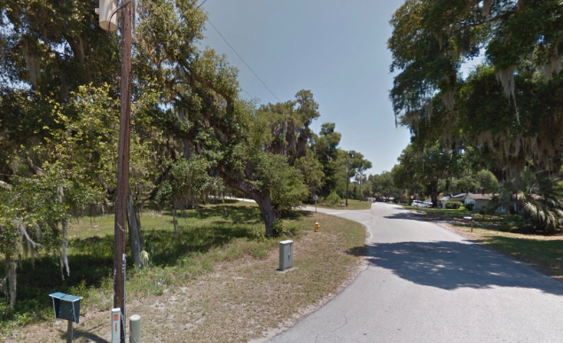 Inverness, Florida, near Henderson Lake. (Image: screenshot from Google Street View)