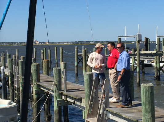 Fiocchi and Sauro visit the Bayview Marina in Ocean City