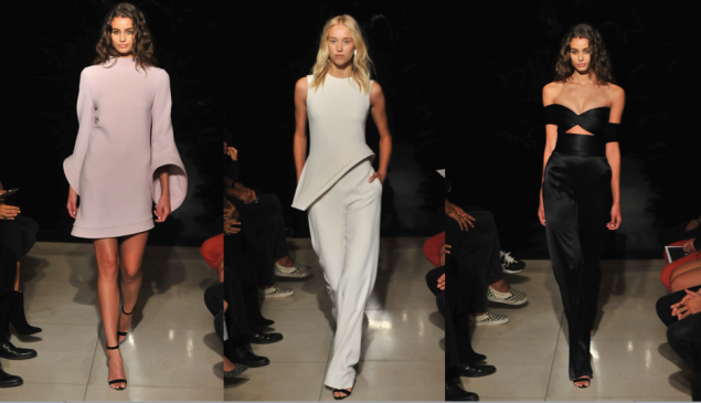 Blush, white and black were the main colors in Mr. Maxwell's show (Photos: Getty Images).