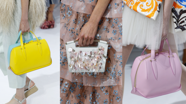 Three of spring's newest handbags (Photo: Courtesy Delpozo)