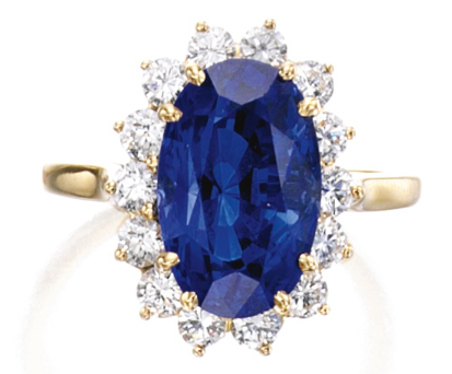 A sapphire and diamond Tiffany & Co. ring. (Photo: Sotheby's)