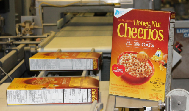 General Mills' first box of gluten-free Honey Nut Cheerios. (Photo: Facebook)