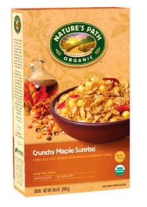 Nature's Path Crunchy Maple Sunrise. (Photo: www.shop.naturespath.com)