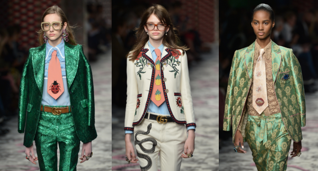 Three playful ties from the latest Gucci offering (Photos: Getty Images).