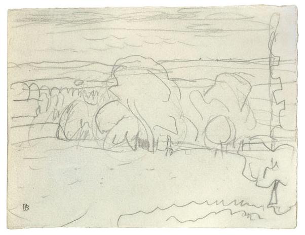 Pierre Bonnard's Etude de Paysage. (Photo: Courtesy of Pace/MacGill)