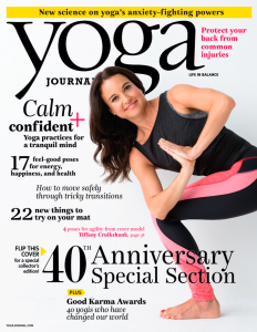 The front cover of Yoga Journal's September issue. (Photo: Yoga Journal)