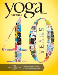 The back cover of Yoga Journal's September issue. (Photo: Yoga Journal)