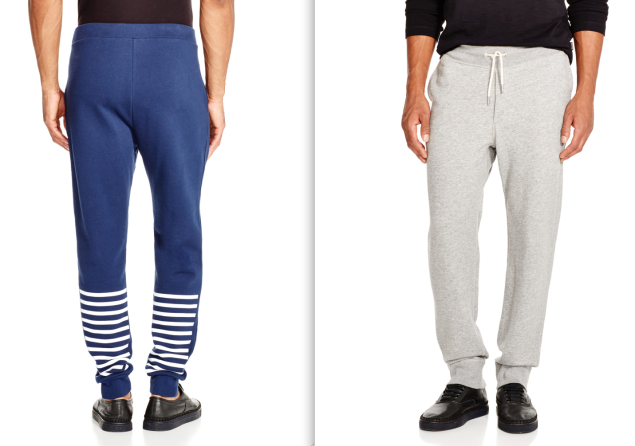 Left, T by Alexander Wang striped sweatpants, $270, www.bloomingdales.com; right, rag & bone sweatpants, $195, www.bloomingdales.com. (Photos: Bloomingdale's)