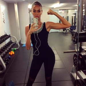 Workout selfies, like this one by Joan Smalls, are stressing millennials out. (Photo: Instagram/Joan Smalls)