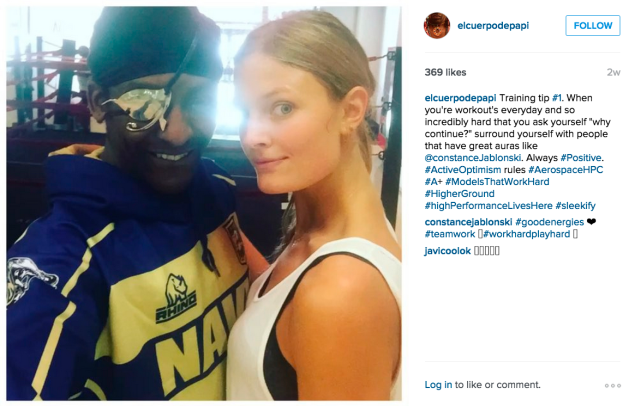 Michael Olajide, Jr. and Constance Jablonski. (Photo: Instagram/Michael Olajide, Jr.)