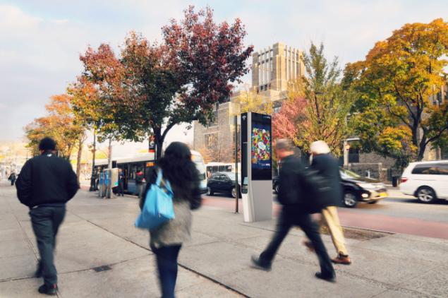 A rendering of a LinkNYC kiosk in the Bronx. (Image: LinkNYC)