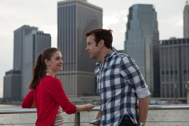 Alison Brie and Jason Sudeikis in Sleeping With Other People.
