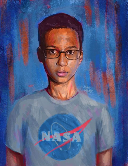 #istandwithahmed art by Nikki Dawes