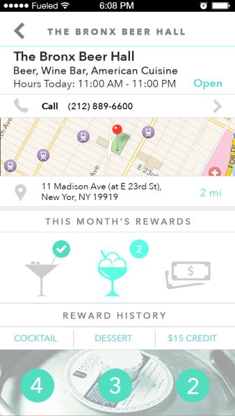 Spare's partner restaurants offer rewards for frequent donations. (Photo: Screenshot)