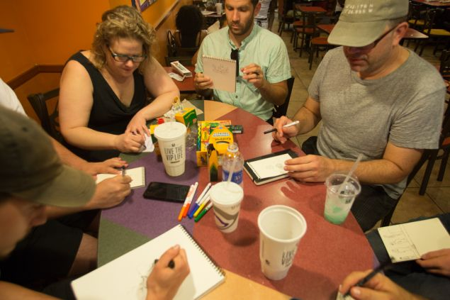 Taco Bell Drawing Club, August 2015. (Photo: Aaron Adler for Observer)
