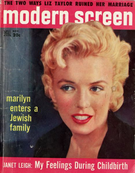 Marilyn Monroe on the cover of Modern Screen, November, 1956. (Photo: The Jewish Museum)