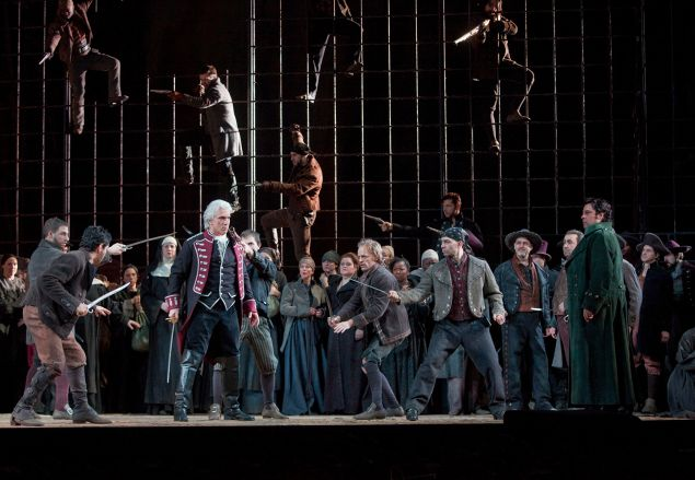 "A scene from Verdi's ""Il Trovatore"" with Dmitri Hvorostovsky as Count di Luna. Photo: Ken Howard/Metropolitan Opera Taken during the final dress rehearsal on Febraury 13, 2009 at the Metropolitan Opera in New York City."