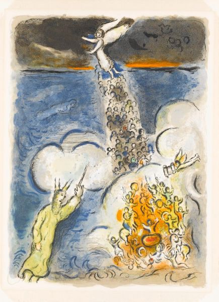 Marc Chagall, Crossing of the Red Sea, from The Story of the Exodus suite, 1966. (Photo: The Jewish Museum)