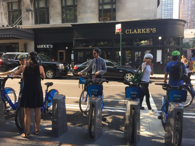 Members of the DOT, Citi Bike, and city officials went on an inaugural bike ride from the new Upper East Side station the new Upper West Side location.