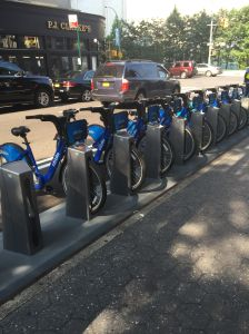 The new Citi Bike station at 63rd and Broadway.