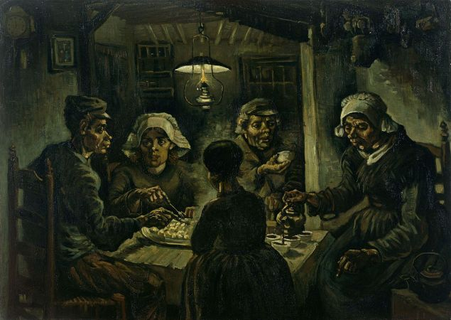 Vincent van Gogh, The Potato Eaters, (1885). (Photo: Wikimedia Commons)