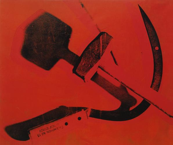 Andy Warhol, Hammer & Sickle, 1976. (Photo: Courtesy of Skarstedt Gallery)