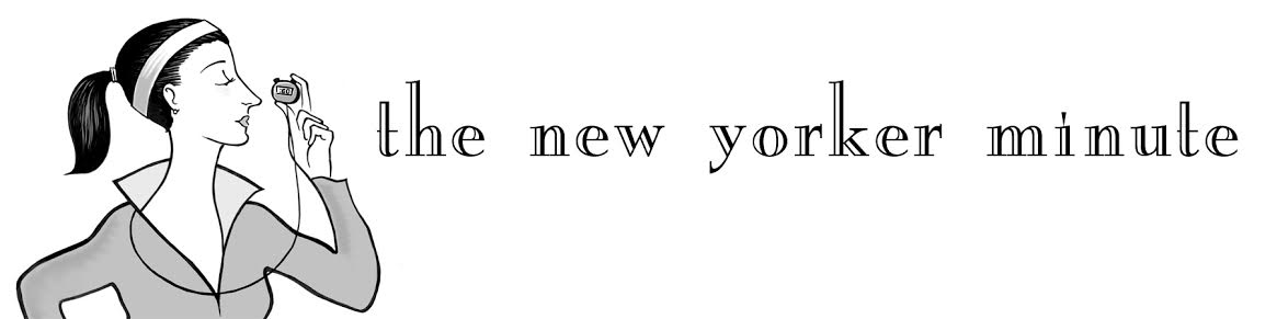The New Yorker Minute's logo, a japing nod to Eustace Tilley.