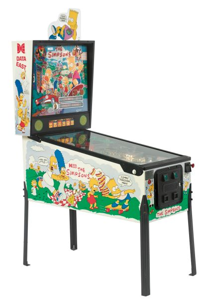 """The Simpsons Data East Pinball Machine sold for $8,125 at Sotheby's """"The Creative Genius of Sam Simon: A Lifetime of Memorabilia"""""""