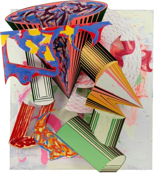Gobba, zoppa e collotorto, 1985 by Frank Stella. (Photo: Courtesy of The Art Institute of Chicago, The Whitney Museum and the artist)
