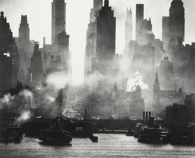 Andreas Feininger, 42nd Street, as Viewed from Weehawken, sold for $27,500 at Sotheby's. (Photo: Sotheby's)