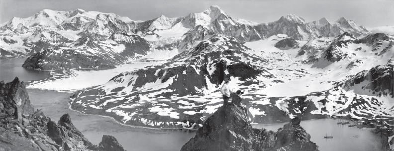 """""""Panorama Of South Georgia"""" by Frank Hurley (Wikimedia Commons)."""