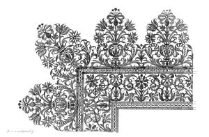Design for scalloped border by Bartolomeo Danieli