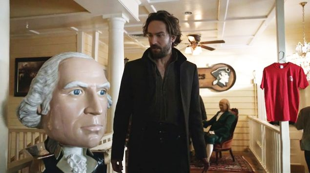 Ichabod Crane (Tom Mison) in Colonial Times, the eatery. (Fox)