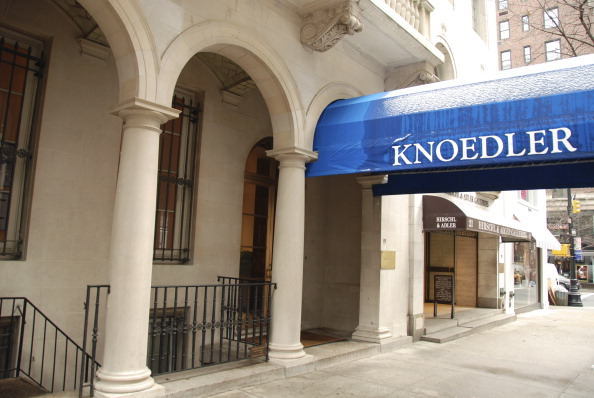 The exterior of the Knoedler & Company art gallery is shown in New York, U.S., on Jan. 8, 2010. The gallery's property, a landmark 1909 towntown, has been listed for sale with Sotheby's Realty for $59.5 million.