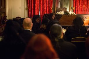 The re-enactment began in the historic townhouse's parlour. (Michael Nagle for Observer)