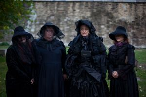 Costumed guests at Seabury Tredwell's 1865 funeral re-enactment, which ended at Marble Cemetery. (Michael Nagle for Observer)